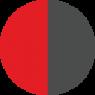 Červená - sivá