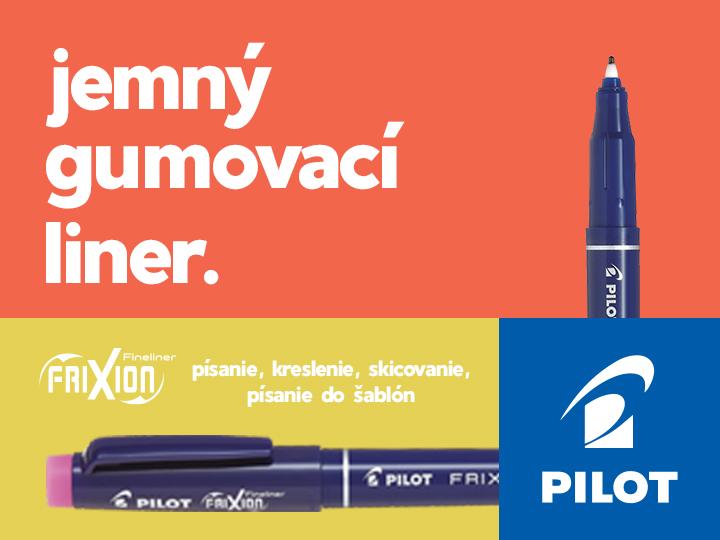 Pilot gumovacím linerom FriXion Fineliner