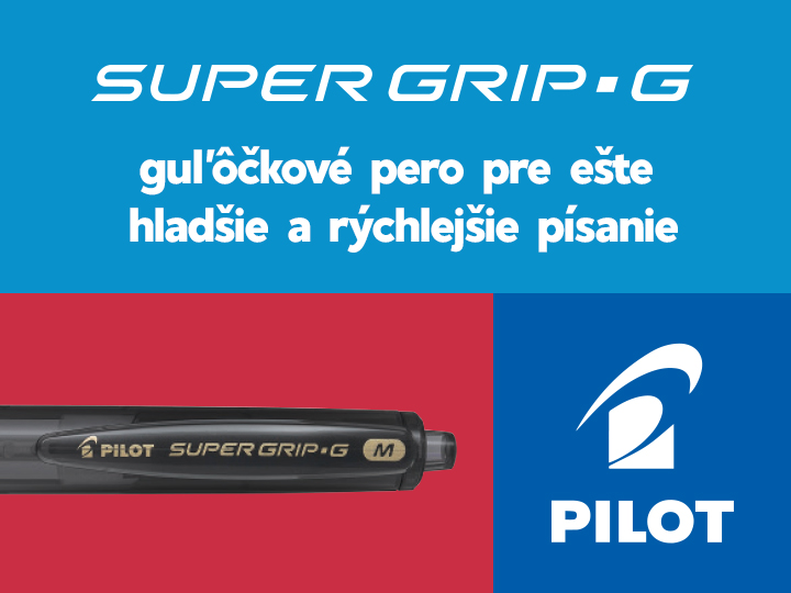 Guľôčkové pero Super Grip G Pilot