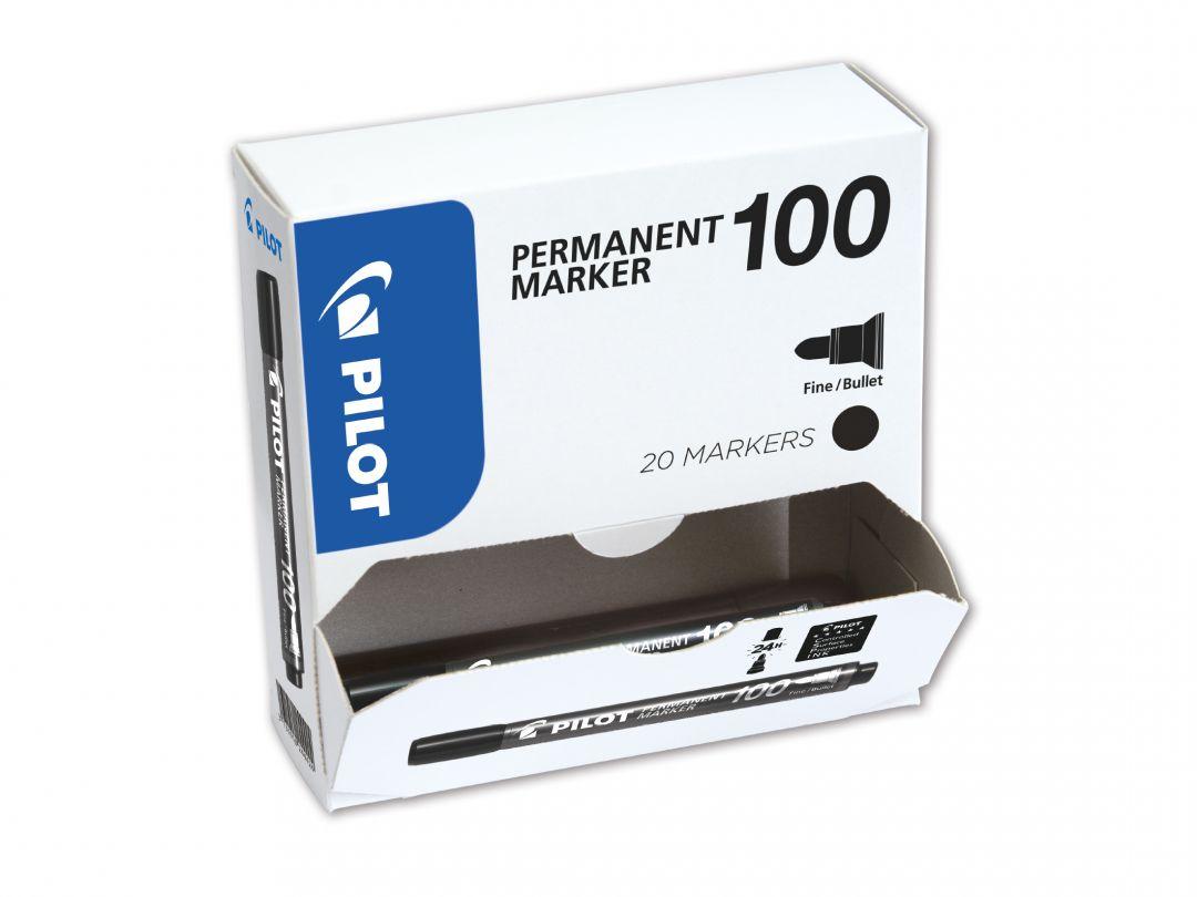Permanent Marker 100 - Popisovač - XXL balenie - Čierna  - Tenký Hrot (F)