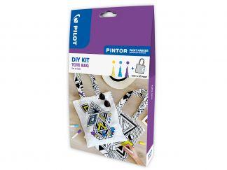 Pilot Pintor - Súprava DIY taška - žltá, fialová, svetlomodrá - Tenký Hrot (F)