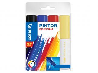 Pilot Pintor - Súprava 4 ks - Mix farieb - Široký Hrot (B)