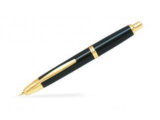 Capless Gold - Čierna  - Tenký Hrot (F) - Darčeková krabička