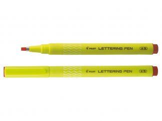Lettering Pen 30 - Liner - Červená  - Široký Hrot (B)