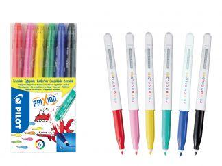 FriXion Colors - Súprava 6 ks - Mix farieb - Stredný Hrot (M)