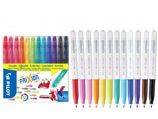 FriXion Colors - Súprava 12 ks - Mix farieb - Stredný Hrot (M)