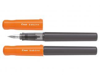 Kaküno - Plniace pero - Oranžová - sivá - Begreen - Stredný Hrot (M)