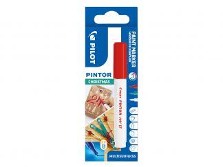 Pilot Pintor - sada 3 vianočných farieb - červená, zelená, biela - Extra Tenký Hrot (EF)