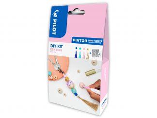 Pilot Pintor - [PINDIYKEYR] - modrá, pastelová zelená, pastelová ružová, zlatá - Extra Tenký Hrot (EF)
