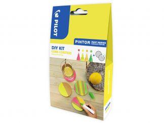 Pilot Pintor - [PINDIYCORKC] - neónová červená, neónová žltá, neónová meruňková oranžová, neónová zelená - Stredný Hrot (M)